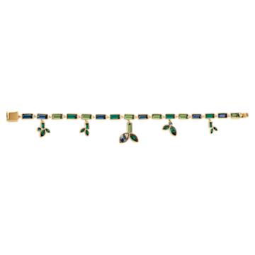 Bamboo-snoer, Donker meerkleurig, Goudkleurige toplaag - Swarovski, 5535894