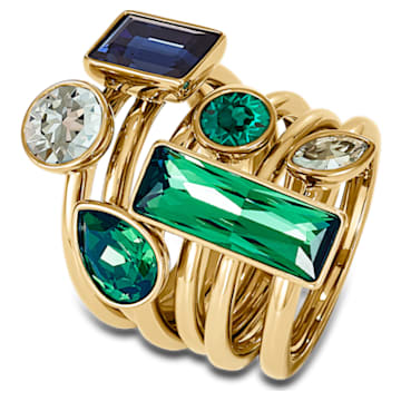 Beautiful Earth by Susan Rockefeller ring, Set (6), Bamboo, Multicolored, Gold-tone plated - Swarovski, 5535895
