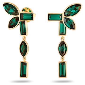Orecchini Jackets Beautiful Earth by Susan Rockefeller, verde, placcato color oro - Swarovski, 5535896