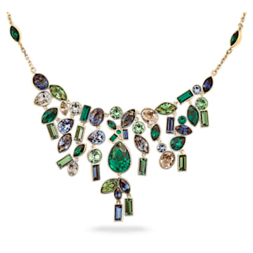 Collana Beautiful Earth by Susan Rockefeller, Bib, multicolore scuro, placcato color oro - Swarovski, 5535897