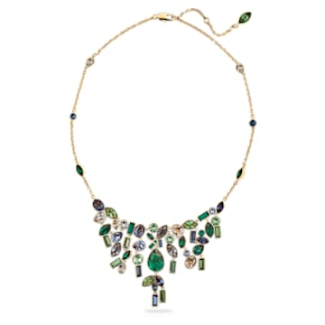 Collar babero Beautiful Earth by Susan Rockefeller, Bambú, Multicolor, Baño tono oro - Swarovski, 5535897