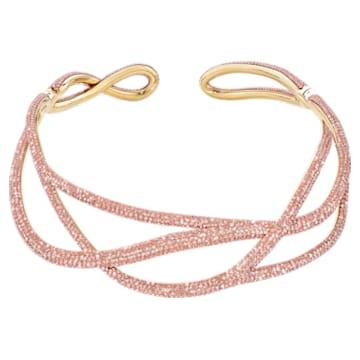 Tigris Statement 束颈项链, 粉红色, 镀金色调 - Swarovski, 5535900