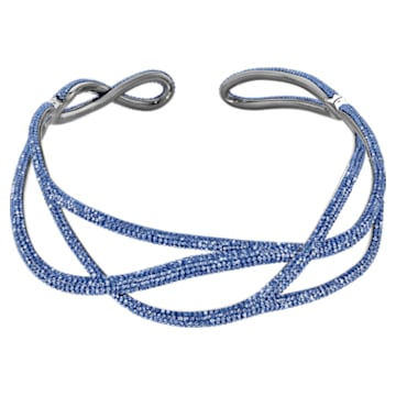 Tigris necklace, Blue, Ruthenium plated - Swarovski, 5535902