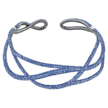 Tigris Statement 束颈项链, 蓝色, 镀钌 - Swarovski, 5535902