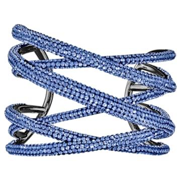 Tigris Armreif, groß, blau, rutheniert - Swarovski, 5535906