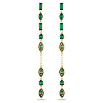 Boucles d'Oreilles « Ear-Jacket » Beautiful Earth by Susan Rockefeller, Long, vert, métal doré - Swarovski, 5535986