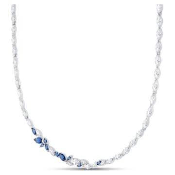 Collar Louison, azul, baño de rodio - Swarovski, 5536547