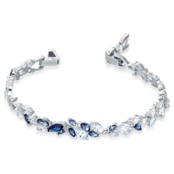 Pulsera Louison, azul, baño de rodio - Swarovski, 5536548
