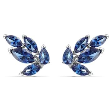Louison csapos bedugós fülbevaló, kék, ródium bevonattal - Swarovski, 5536549