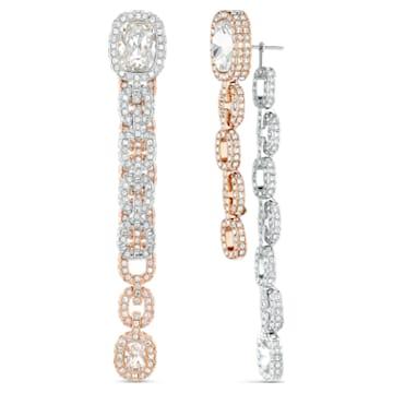 Eternal 穿孔耳環, 白色, 多種金屬潤飾 - Swarovski, 5536596