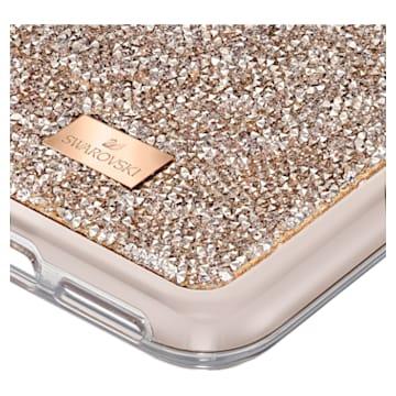 Glam Rock Smartphone Case with Bumper, iPhone® 11 Pro Max, Rose gold tone - Swarovski, 5536651