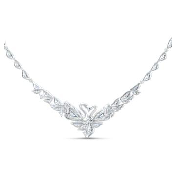 Dancing Swan Halskette, weiss, rhodiniert - Swarovski, 5536766