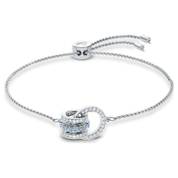 Bracelet Further, bleu, métal rhodié - Swarovski, 5537123