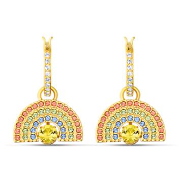 Boucles d'oreilles Swarovski Sparkling Dance Rainbow, multicolore clair, métal doré - Swarovski, 5537494