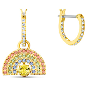 Swarovski Sparkling Dance Rainbow Pierced Earrings, Light multi-coloured, Gold-tone plated - Swarovski, 5537494