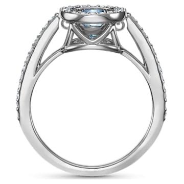 Swarovski Sparkling Dance Round 戒指, 海藍色, 鍍白金色 - Swarovski, 5537794