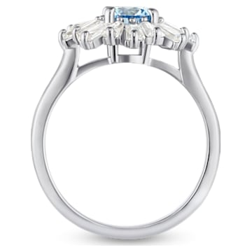 Sunshine Ring, Blue, Rhodium plated - Swarovski, 5537795