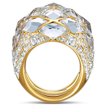 Tropical Ring, White, Gold-tone plated - Swarovski, 5537809