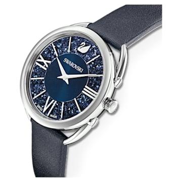 Crystalline Glam óra, Bőr szíj, Kék, Rozsdamentes acél - Swarovski, 5537961