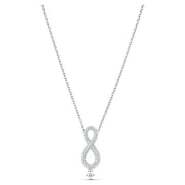 Collar Swarovski Infinity, Infinity, Blanco, Baño de rodio - Swarovski, 5537966