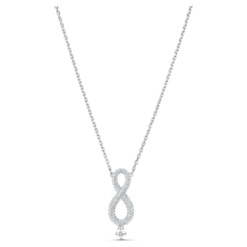Swarovski Infinity Necklace, White, Rhodium plated - Swarovski, 5537966