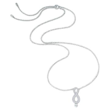 Colar Swarovski Infinity, branco, banhado a ródio - Swarovski, 5537966