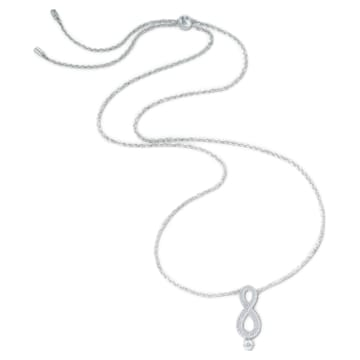 Swarovski Infinity 項鏈, Infinity, 白色, 鍍白金色 - Swarovski, 5537966