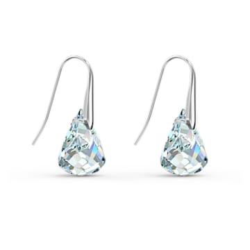 Spirit Pierced Earrings, White, Rhodium plated - Swarovski, 5538071