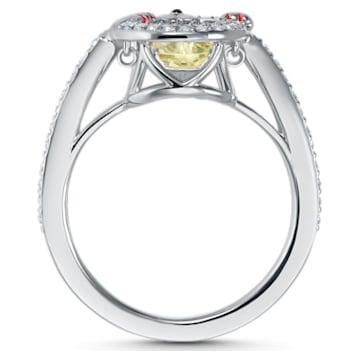 Swarovski Sparkling Dance Cat Ring, Light multi-colored, Rhodium plated - Swarovski, 5538139