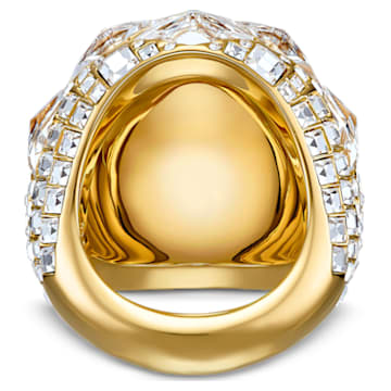 Tropical 戒指, 白色, 鍍金色色調 - Swarovski, 5539036