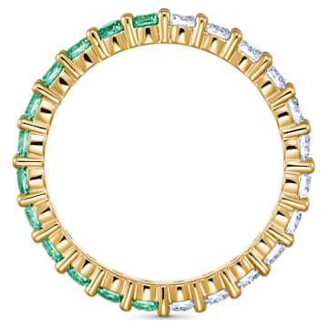 Pierścionek Vittore, zielony, powłoka w odcieniu złota - Swarovski, 5539747