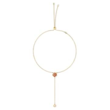 Full Blessing Fu Y形項鏈, 紅色, 鍍金色色調 - Swarovski, 5539899