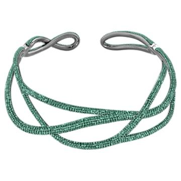 Tigris Statement Halsband, grün, rutheniert - Swarovski, 5540377