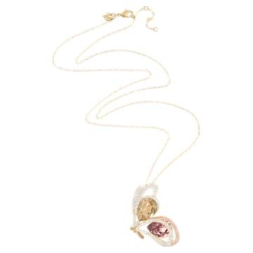 Chelly Pendant, Light multi-coloured, Gold-tone plated - Swarovski, 5540495