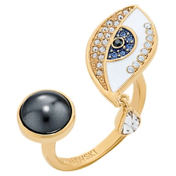 Anello Surreal Dream, occhio, blu, placcato color oro - Swarovski, 5540647