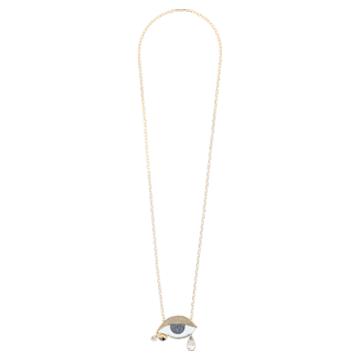 Colgante Surreal Dream, ojo, azul, baño tono oro - Swarovski, 5540649