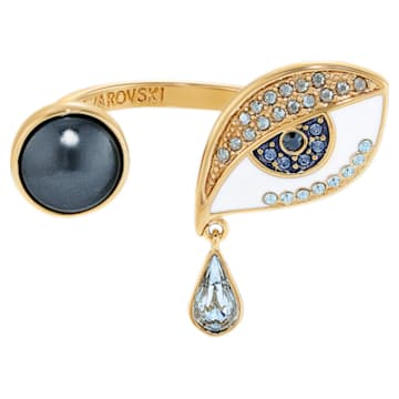 Anillo Surreal Dream, ojo, azul, baño tono oro - Swarovski, 5540654