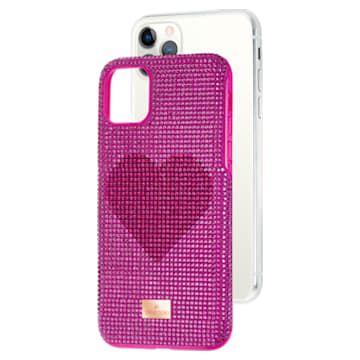Coque rigide pour smartphone avec cadre amortisseur Crystalgram Heart, iPhone® 11 Pro Max, rose - Swarovski, 5540722
