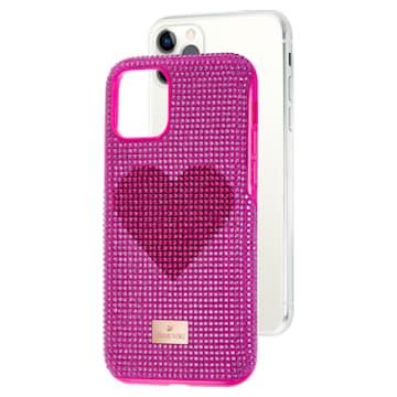 Coque rigide pour smartphone avec cadre amortisseur Crystalgram Heart, iPhone® 11 Pro, rose - Swarovski, 5540723