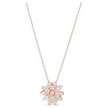 Eternal Flower Подвеска, Розовый Кристалл, Покрытие оттенка розового золота - Swarovski, 5540973