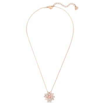 Pandantiv Eternal Flower, roz, placat în nuanță aur roz - Swarovski, 5540973