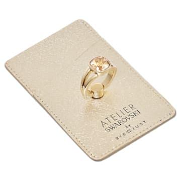 Soporte de tarjeta y anillo de teléfono EyeJust, tono dorado, baño tono oro - Swarovski, 5541914