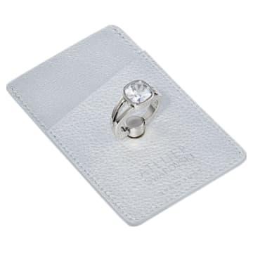 Supporto per anello e scheda telefonica EyeJust, tono argentato, placcato palladio - Swarovski, 5541915