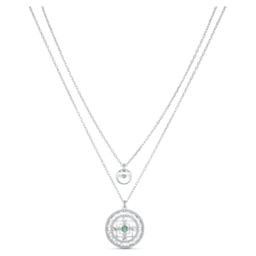 Collier Swarovski Symbolic Mandala, blanc, métal rhodié - Swarovski, 5541987
