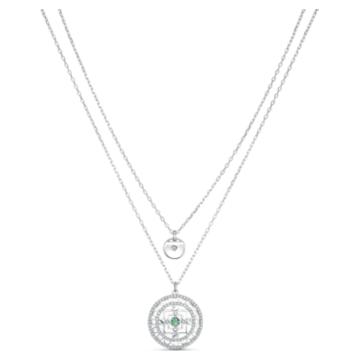 Swarovski Symbolic Mandala 項鏈, 白色, 鍍白金色 - Swarovski, 5541987