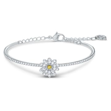 Eternal Flower Armreif, Blume, Gelb, Metallmix - Swarovski, 5542012