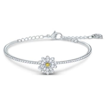 Eternal Flower bangle, Flower, Yellow, Mixed metal finish - Swarovski, 5542012