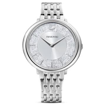 Crystalline Chic horloge, Metalen armband, Zilverkleurig, Roestvrij staal - Swarovski, 5544583