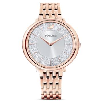 Crystalline Chic Uhr, Metallarmband, Roséfarben, Roségoldfarbenes PVD-Finish - Swarovski, 5544590