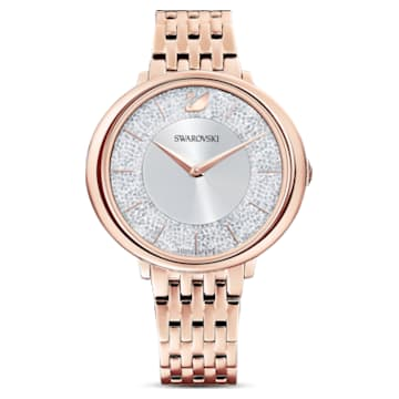 Orologio Crystalline Chic, Bracciale di metallo, Tono oro rosa, Placcato color oro rosa - Swarovski, 5544590